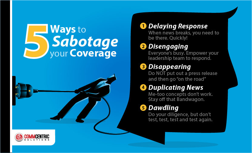[INFOGRAPHIC] 5 Ways to Sabotage Your News Coverage